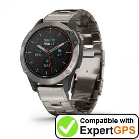 Download your Garmin quatix 6 Titanium waypoints and tracklogs and create maps with ExpertGPS