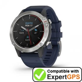 Download your Garmin quatix 6 waypoints and tracklogs and create maps with ExpertGPS