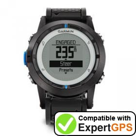 Download your Garmin quatix waypoints and tracklogs and create maps with ExpertGPS