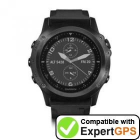 Download your Garmin tactix Bravo waypoints and tracklogs and create maps with ExpertGPS