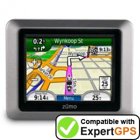 Download your Garmin zumo 220 waypoints and tracklogs and create maps with ExpertGPS