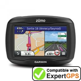 Download your Garmin zūmo 310 waypoints and tracklogs and create maps with ExpertGPS