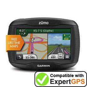 Download your Garmin zūmo 350LM waypoints and tracklogs and create maps with ExpertGPS