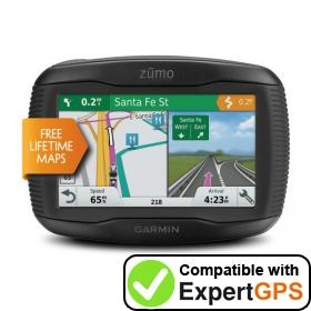 Download your Garmin zūmo 395LM Travel Edition waypoints and tracklogs and create maps with ExpertGPS