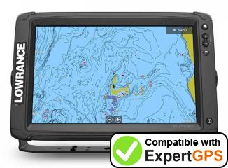 Download your Lowrance Elite-12 Ti2 waypoints and tracklogs and create maps with ExpertGPS