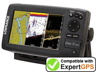 Download your Lowrance Elite-7 HDI waypoints and tracklogs and create maps with ExpertGPS
