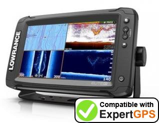 Download your Lowrance Elite-9 Ti waypoints and tracklogs and create maps with ExpertGPS