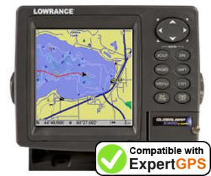 Download your Lowrance GlobalMap 3600C iGPS waypoints and tracklogs and create maps with ExpertGPS