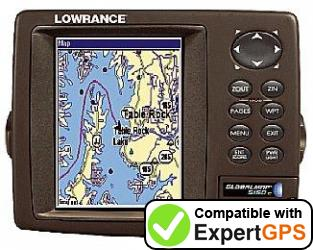 Download your Lowrance GlobalMap 5150C waypoints and tracklogs and create maps with ExpertGPS