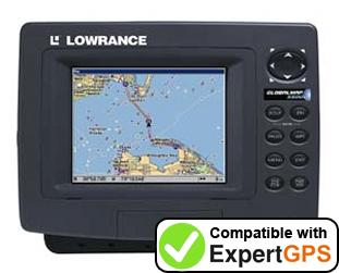 Download your Lowrance GlobalMap 5500C waypoints and tracklogs and create maps with ExpertGPS
