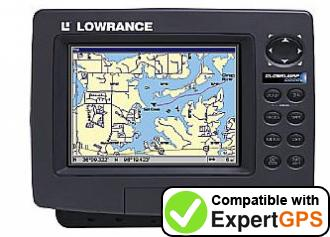 Download your Lowrance GlobalMap 6000C waypoints and tracklogs and create maps with ExpertGPS