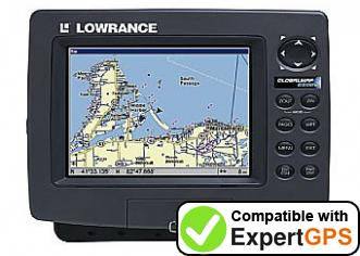 Download your Lowrance GlobalMap 6500C waypoints and tracklogs and create maps with ExpertGPS