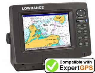 Download your Lowrance GlobalMap 7300C HD waypoints and tracklogs and create maps with ExpertGPS