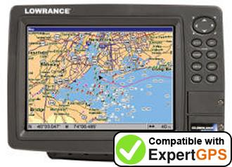Download your Lowrance GlobalMap 8200C waypoints and tracklogs and create maps with ExpertGPS