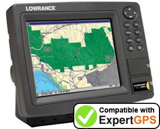 Download your Lowrance GlobalMap Baja 840C waypoints and tracklogs and create maps with ExpertGPS