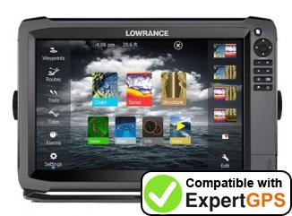 Download your Lowrance HDS-12 Gen3 waypoints and tracklogs and create maps with ExpertGPS