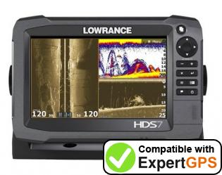 Download your Lowrance HDS-7 Gen2 waypoints and tracklogs and create maps with ExpertGPS