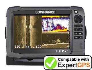 Download your Lowrance HDS-7 Gen3 waypoints and tracklogs and create maps with ExpertGPS