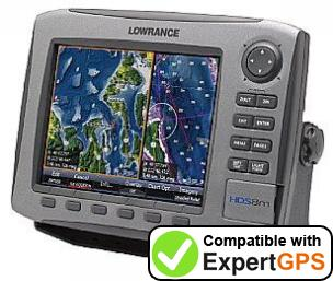 Download your Lowrance HDS-8m waypoints and tracklogs and create maps with ExpertGPS