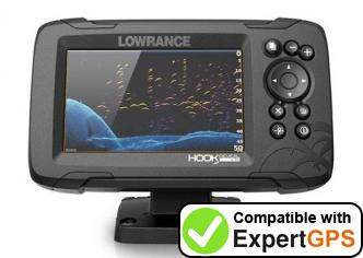 Download your Lowrance HOOK Reveal 5 waypoints and tracklogs and create maps with ExpertGPS