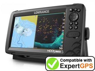 Download your Lowrance HOOK Reveal 9 waypoints and tracklogs and create maps with ExpertGPS