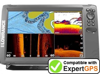 Download your Lowrance HOOK2-12 waypoints and tracklogs and create maps with ExpertGPS