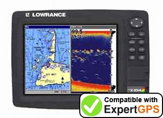 Download your Lowrance LCX-104C waypoints and tracklogs and create maps with ExpertGPS