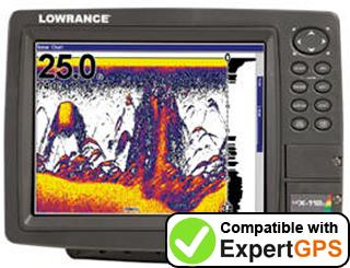 Download your Lowrance LCX-112C waypoints and tracklogs and create maps with ExpertGPS