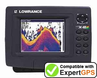 Download your Lowrance LCX-18C waypoints and tracklogs and create maps with ExpertGPS