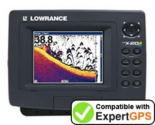 Download your Lowrance LCX-20C waypoints and tracklogs and create maps with ExpertGPS