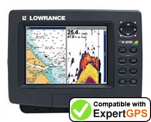Download your Lowrance LCX-26C HD waypoints and tracklogs and create maps with ExpertGPS