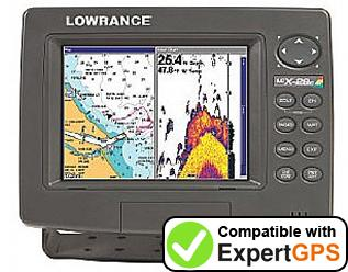 Download your Lowrance LCX-28C HD waypoints and tracklogs and create maps with ExpertGPS