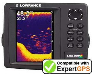 Download your Lowrance LMS-330C waypoints and tracklogs and create maps with ExpertGPS