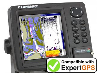 Download your Lowrance LMS-339CDF iGPS waypoints and tracklogs and create maps with ExpertGPS