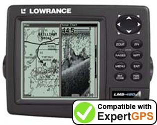 Download your Lowrance LMS-480MDF waypoints and tracklogs and create maps with ExpertGPS