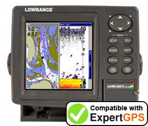 Download your Lowrance LMS-527C DF iGPS waypoints and tracklogs and create maps with ExpertGPS