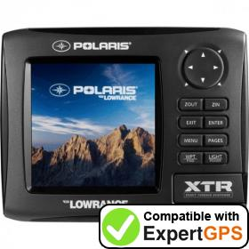 Download your Lowrance Polaris XTR waypoints and tracklogs and create maps with ExpertGPS