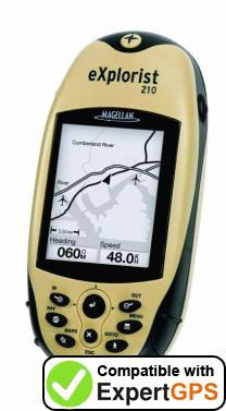 Download your Magellan eXplorist 210 waypoints and tracklogs and create maps with ExpertGPS