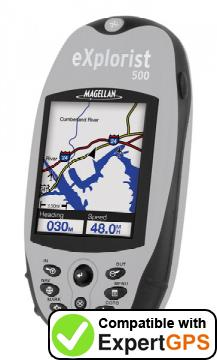 Download your Magellan eXplorist 500 waypoints and tracklogs and create maps with ExpertGPS