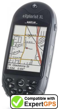 Download your Magellan eXplorist XL waypoints and tracklogs and create maps with ExpertGPS