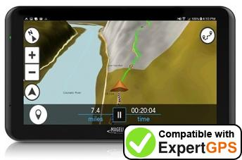 Download your Magellan TR7 waypoints and tracklogs and create maps with ExpertGPS