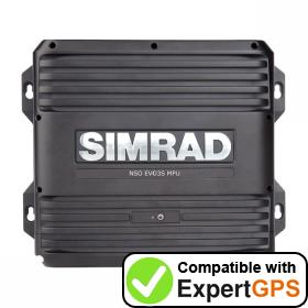 Download your Simrad NSO evo3S waypoints and tracklogs and create maps with ExpertGPS