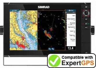 Download your Simrad NSS12 evo2 waypoints and tracklogs and create maps with ExpertGPS