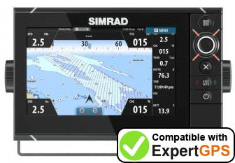 Download your Simrad NSS7 evo2 waypoints and tracklogs and create maps with ExpertGPS
