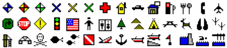 ExpertGPS waypoint symbols for Lowrance Elite-5 CHIRP Gold
