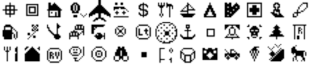 ExpertGPS waypoint symbols for Magellan MAP 330