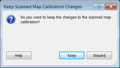 Keep Scanned Map Calibration Changes Dialog