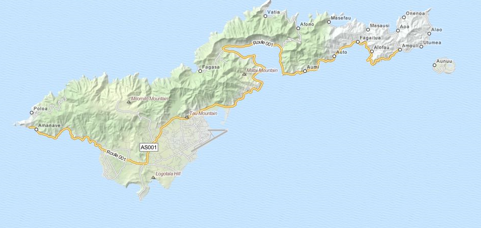 Download American Samoa Map Software for Your GPS