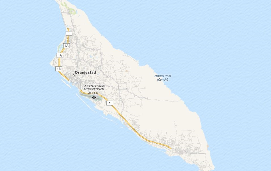 Map of Aruba in ExpertGPS GPS Mapping Software