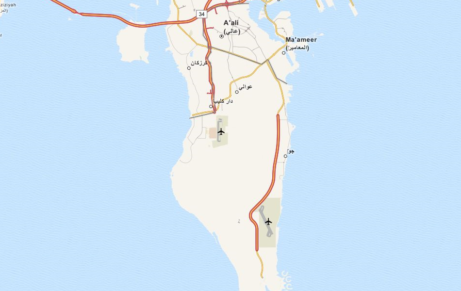 Map of Bahrain in ExpertGPS GPS Mapping Software